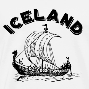 Iceland Viking Ship - Men's Premium T-Shirt