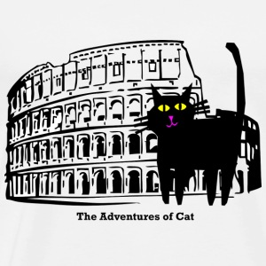 Cat Visits the Coliseum - Men's Premium T-Shirt