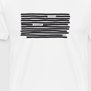 Something Remarkable Here - Redacted - Men's Premium T-Shirt