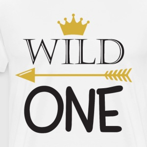 Wild One Birthday Bodysuit Wild One Party 1st Birt - Men's Premium T-Shirt