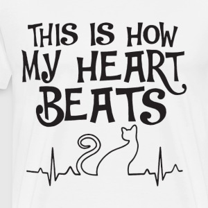 This is how my heart beats cat - Men's Premium T-Shirt
