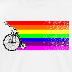 Giraffe on a bike - Men's Premium T-Shirt