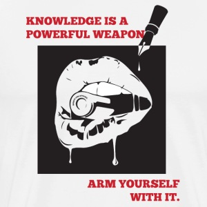Knowledge Is Power - Men's Premium T-Shirt