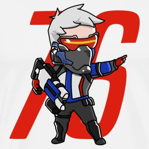 Cute Soldier 76 from Overwatch - Men's Premium T-Shirt