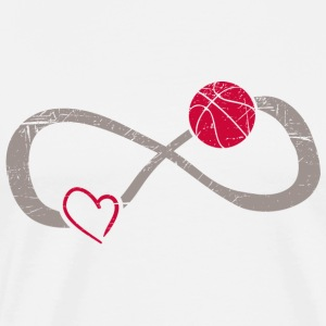Infinite Love ∞ I Love Basketball ∞ American Sport - Men's Premium T-Shirt