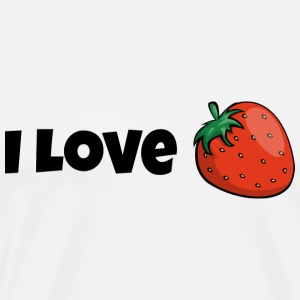 I love strawberries strawberry tasty fruit gift - Men's Premium T-Shirt