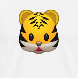 Cute Tiger Face T-Shirt - Men's Premium T-Shirt