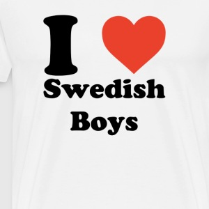 I love heart Swedish Boys - Men's Premium T-Shirt