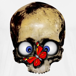 skull with red butterfly - Men's Premium T-Shirt