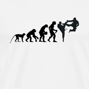 Karate - Judo - fight - fighter - Kicking - Kicks - Men's Premium T-Shirt