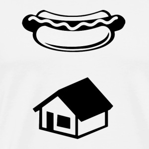 Ghostbusters Hot Dog Ghost Logo - Men's Premium T-Shirt