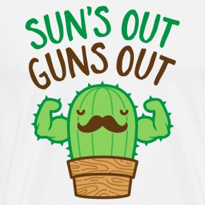 Sun's Out Guns Out Macho Cactus - Men's Premium T-Shirt