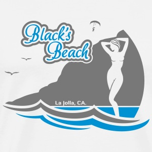 Blacks Beach, La Jolla CA. - Men's Premium T-Shirt