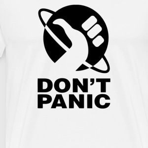 Don t Panic Hitchhikers Guide - Men's Premium T-Shirt