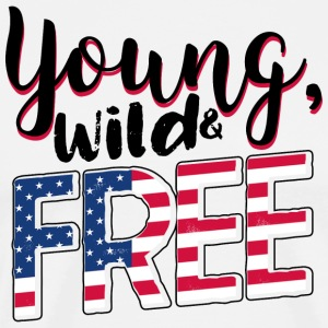 Young, Wild and Free - Men's Premium T-Shirt