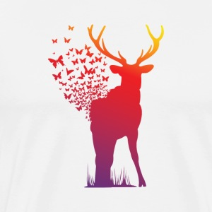 Ambient Butterfly Dispersion Elk - Men's Premium T-Shirt