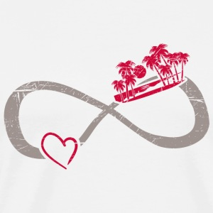 Infinite Love ∞ I Love Summer ∞ Palm Trees Beach - Men's Premium T-Shirt