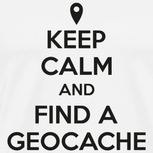 Geocache - Keep calm and find a geocache - Men's Premium T-Shirt