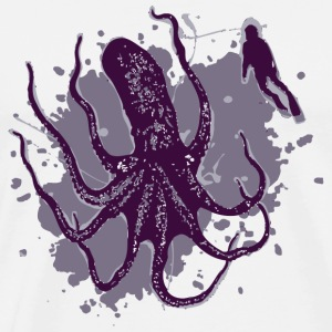 Octopus - Giant Octopus - Men's Premium T-Shirt