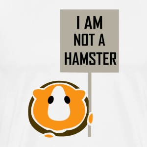 I am not a hamster - Men's Premium T-Shirt