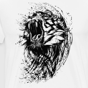 Illustration Bengal Tiger Shirt Animal Shirt - Men's Premium T-Shirt