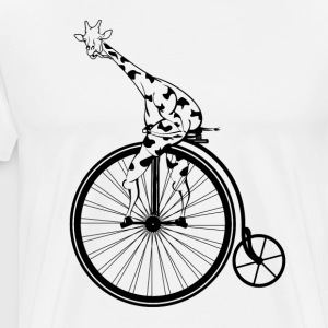GIRAFFE PENNY FARTHING AMAZON - Men's Premium T-Shirt