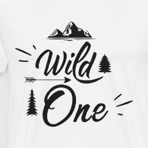Wild One Birthday First Birthday Boy Outfit Wild O - Men's Premium T-Shirt