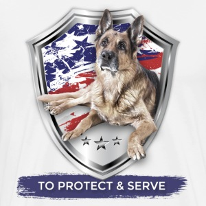 TO PROTECT AND SERVE German Shepherd Police Badge - Men's Premium T-Shirt