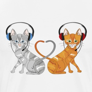 cat in chat - Men's Premium T-Shirt