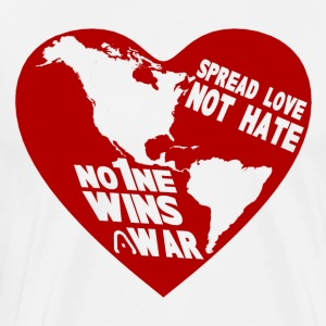 HEART the WORLD (NO MORE WAR) - Men's Premium T-Shirt