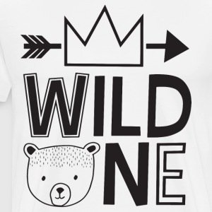 Wild One Raglan Wild One Birthday Shirt Wild One B - Men's Premium T-Shirt