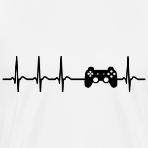 Heartbeat Video Gamer games Computer geek fun gift - Men's Premium T-Shirt