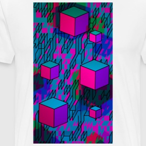 Retro Cubes - Men's Premium T-Shirt