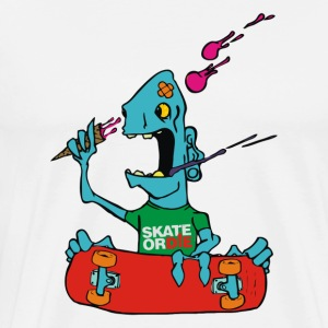 Skate Or Die cartoon - Men's Premium T-Shirt