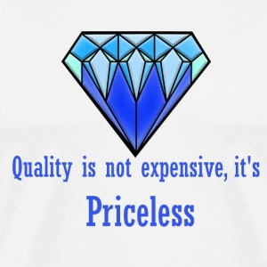 Blue Diamond quality illustration - Men's Premium T-Shirt