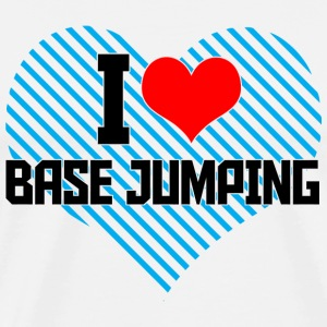 Jumping - i heart base jumping - Men's Premium T-Shirt