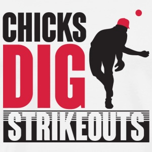 Baseball - Chicks dig strikeouts - Men's Premium T-Shirt