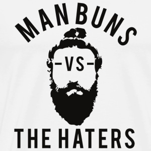 Beard - Man Buns vs. The Haters - Men's Premium T-Shirt