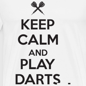 Dart - Keep calm and play darts - Men's Premium T-Shirt