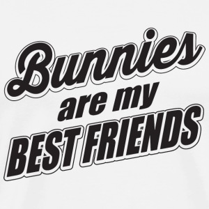 Bunny - Bunnies are my best friends - Men's Premium T-Shirt