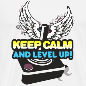 Gamer - Keep Calm and Level Up! - Men's Premium T-Shirt