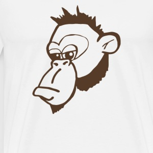 Funny Monkey Face T Shirt - Men's Premium T-Shirt