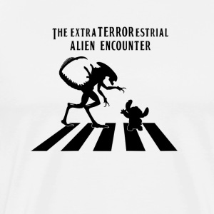 Alien Encounter Abbey Road - Men's Premium T-Shirt