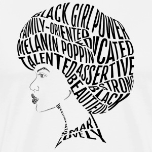 Afro Hair Word Art Design - Men's Premium T-Shirt