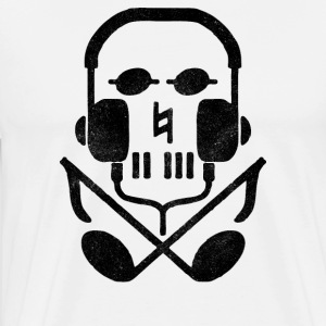 skull earphones - Men's Premium T-Shirt