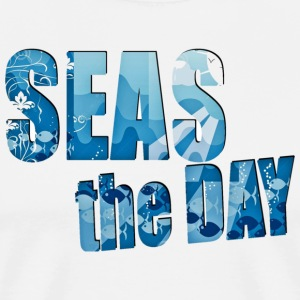 SEAS THE DAY nautical beach shirt - Men's Premium T-Shirt