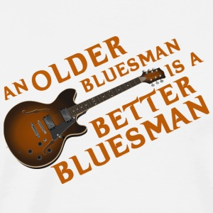 An Older Bluesman is a Better Bluesman - Men's Premium T-Shirt