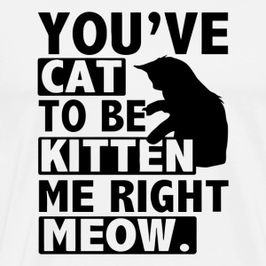 You ve Cat To Be Kitten Me Right Meow - Men's Premium T-Shirt