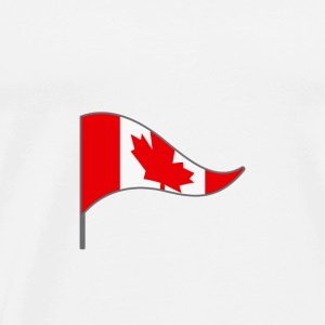 Canada North America Flag Banner Flags Ensigns - Men's Premium T-Shirt