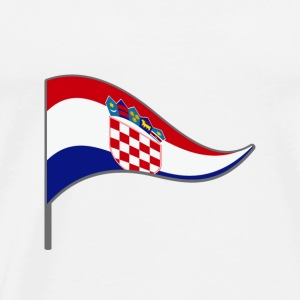 Croatia zagreb Europa Flag Banner Flags Ensigns - Men's Premium T-Shirt